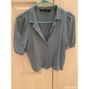 ZARA blue blouse